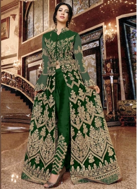 Embroidered Work Net Pant Style Classic Suit