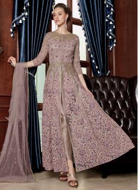 Embroidered Work Net Pant Style Designer Salwar Kameez