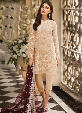 Embroidered Work Net Pant Style Pakistani Salwar Kameez