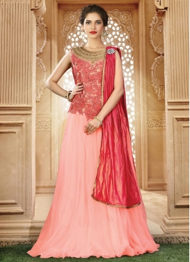 Embroidered Work Net Trendy Designer Lehenga Choli