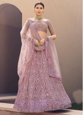 Embroidered Work Net Trendy Designer Lehenga Choli