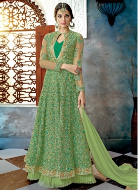 Embroidered Work Net Trendy Designer Salwar Kameez