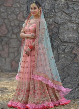 Embroidered Work Net Trendy Lehenga Choli