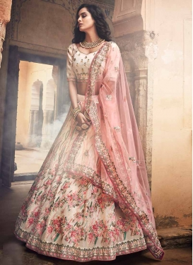 Embroidered Work Organza A Line Lehenga Choli
