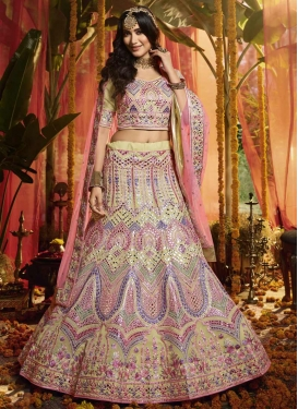 Embroidered Work Organza Trendy A Line Lehenga Choli