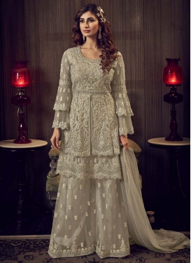 Embroidered Work Palazzo Designer Salwar Suit