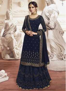 Embroidered Work Palazzo Designer Suit