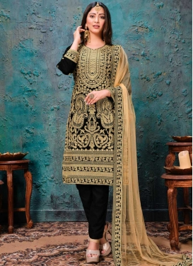 Embroidered Work Pant Style Classic Salwar Suit
