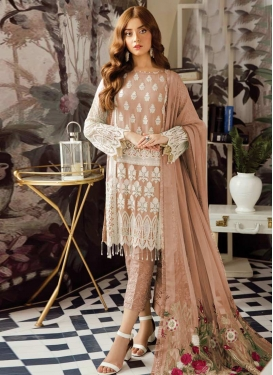 Embroidered Work Pant Style Classic Salwar Suit For Ceremonial