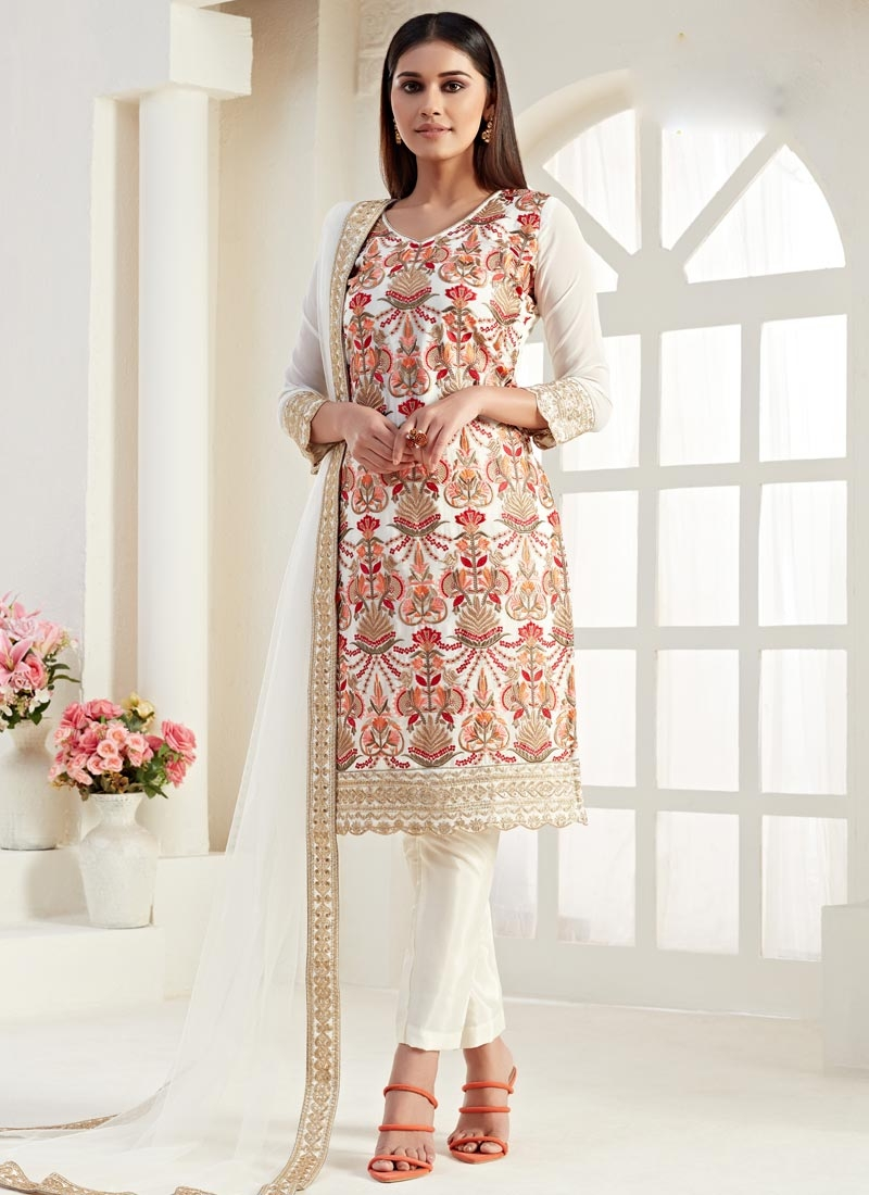 Embroidered Work Pant Style Classic Suit