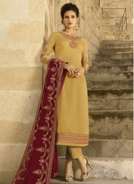 Embroidered Work Pant Style Designer Salwar Kameez