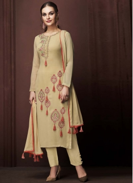 Embroidered Work Pant Style Designer Salwar Suit