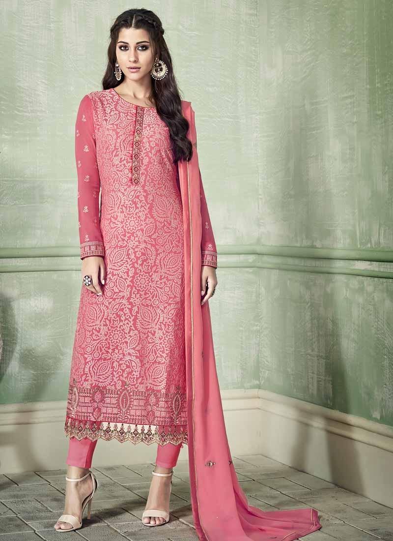 Embroidered Work Pant Style Pakistani Salwar Kameez