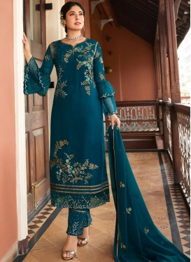 Embroidered Work Pant Style Pakistani Salwar Kameez