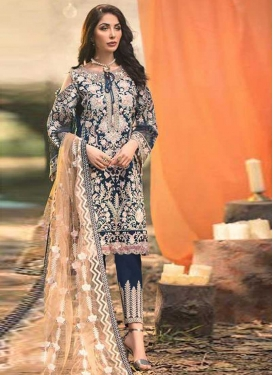 Embroidered Work Pant Style Pakistani Salwar Suit For Festival