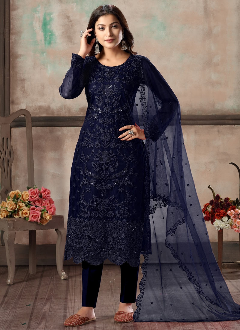 Embroidered Work Pant Style Pakistani Suit