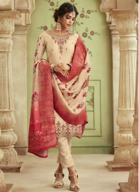 Embroidered Work Pant Style Salwar Kameez
