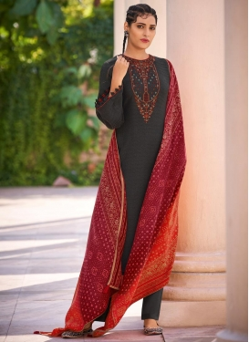 Embroidered Work Pasmina Palazzo Style Pakistani Salwar Suit