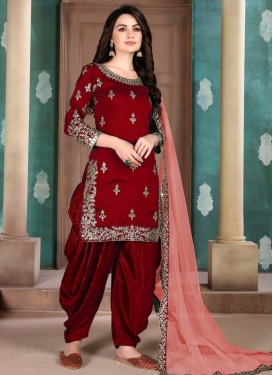 Embroidered Work Patiala Salwar Kameez