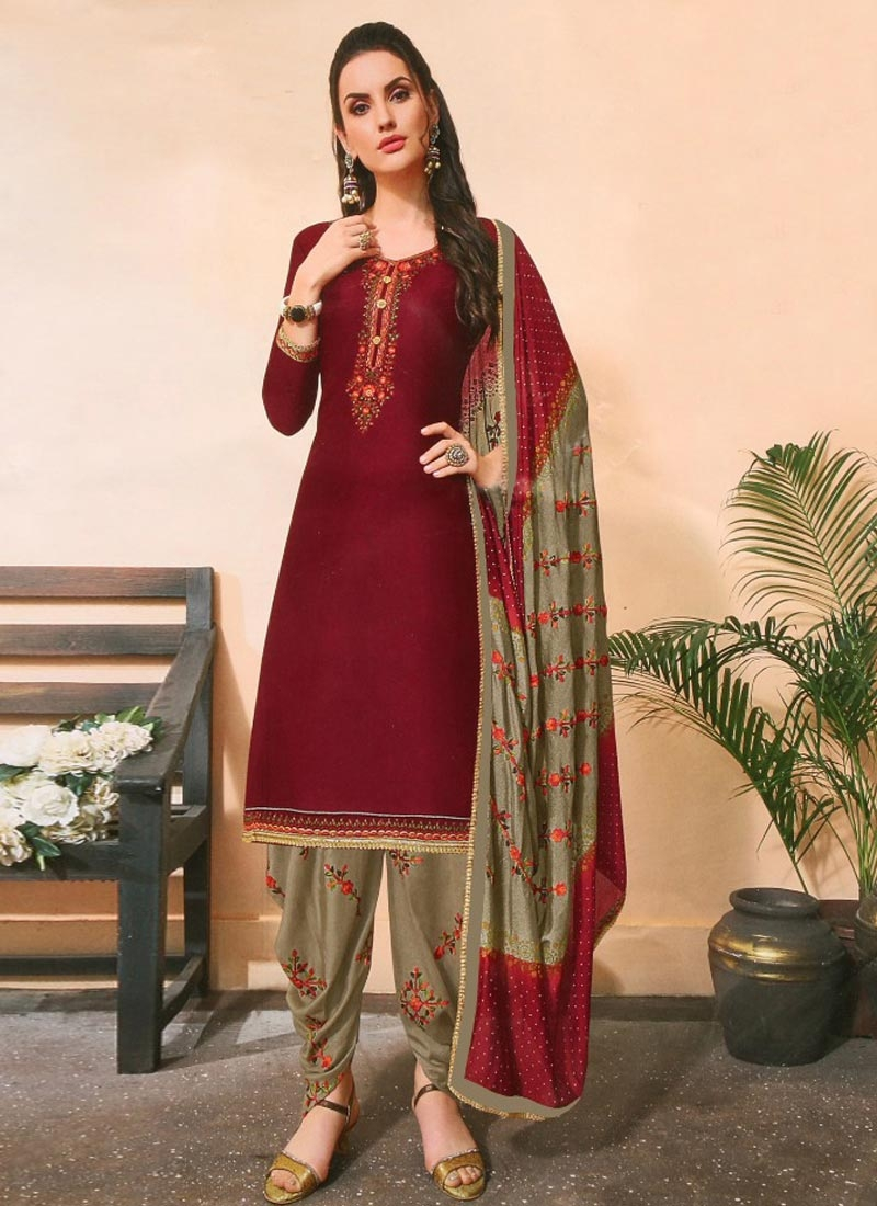 Embroidered Work Punjabi Salwar Kameez