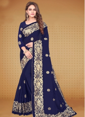 Embroidered Work Rangoli Contemporary Style Saree