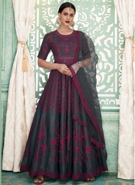 Embroidered Work Readymade Anarkali Salwar Suit