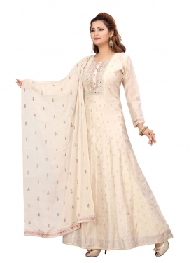 Embroidered Work Readymade Anarkali Salwar Suit
