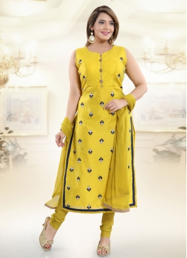 Embroidered Work Readymade Churidar Salwar Kameez