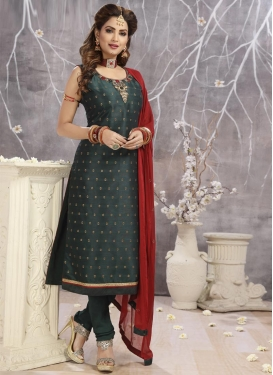 Embroidered Work Readymade Churidar Salwar Suit