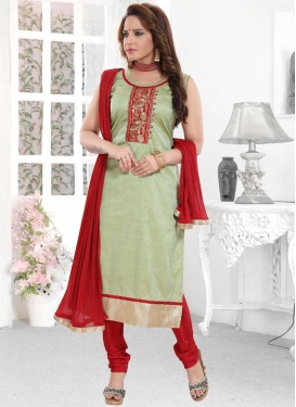 Embroidered Work Readymade Churidar Salwar Suit