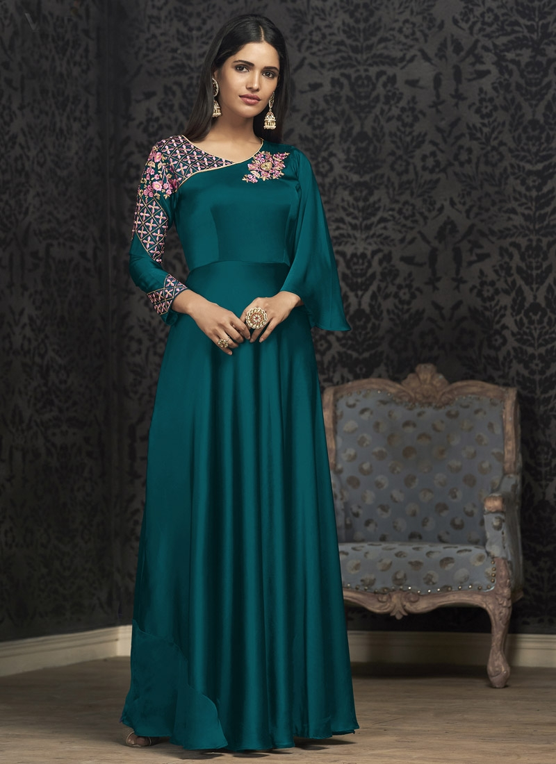 Embroidered Work Readymade Designer Gown