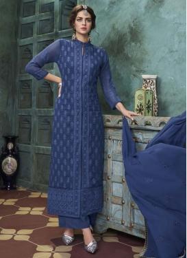 Embroidered Work Readymade Designer Salwar Suit For Ceremonial