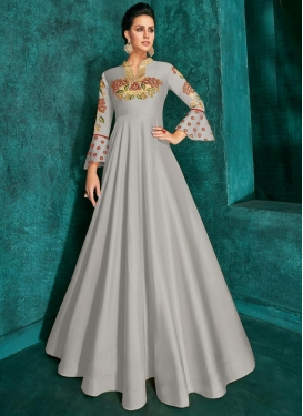 Embroidered Work Readymade Long Length Gown