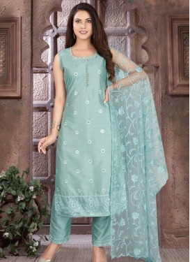 Embroidered Work Readymade Long Length Suit