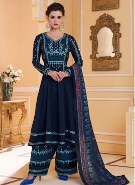 Embroidered Work Readymade Long Length Suit For Ceremonial