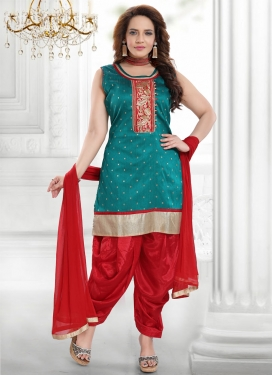 Embroidered Work Readymade Salwar Kameez