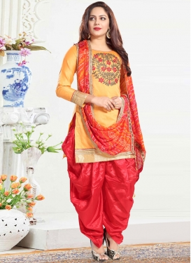 Embroidered Work Readymade Salwar Suit