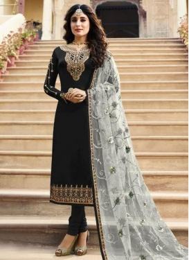 Embroidered Work Satin Georgette Designer Pakistani Salwar Suit