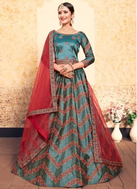Embroidered Work Satin Silk Trendy Lehenga Choli