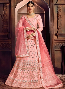 Embroidered Work Silk A - Line Lehenga