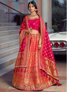 Embroidered Work Silk Trendy Lehenga Choli