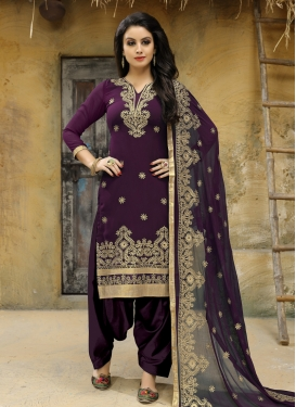 Embroidered Work Straight Salwar Kameez
