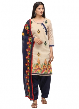 Embroidered Work Straight Salwar Suit