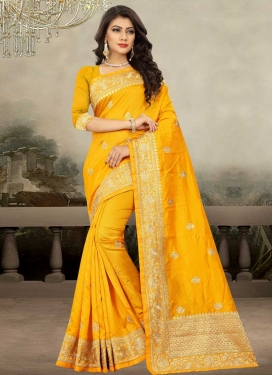 Embroidered Work Traditional Designer Saree