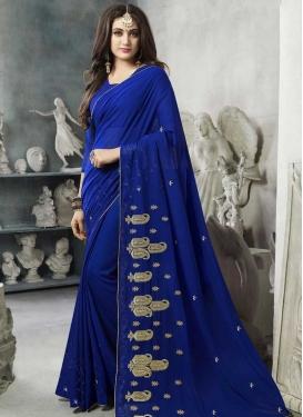 Embroidered Work Traditional Designer Saree