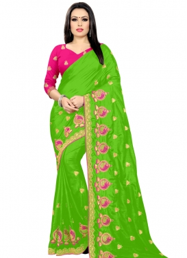 Embroidered Work Traditional Designer Saree For Casual