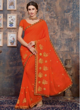 Embroidered Work Traditional Designer Saree For Ceremonial