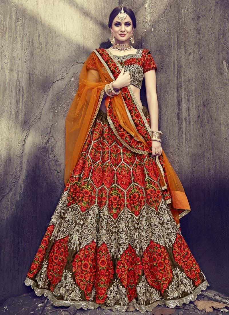 Embroidered Work Trendy A Line Lehenga Choli