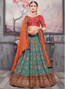 Embroidered Work Trendy A Line Lehenga Choli
