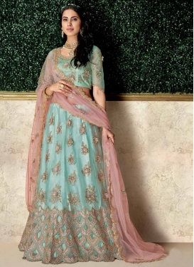 Embroidered Work Trendy A Line Lehenga Choli For Festival